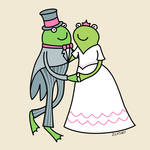 """Frog Wedding Couple"" by zoe"