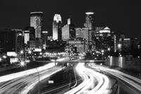 Minneapolis Skyline BW