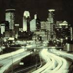 """Minneapolis Skyline Sepia"" by RBurmaster"