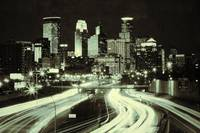 Minneapolis Skyline Sepia