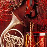 """French horn Christmas still life"" by photogarry"