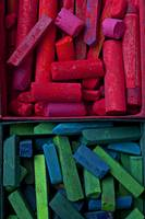 Red and blue chalk