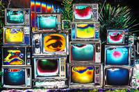 Old TV's Abstract
