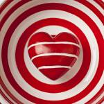 """""""Striped heart in bowl"""" by photogarry"""