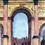 """Archway at the Louvre, Paris"" by Jackie-Sherwood-Artist"