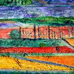 """Autumn Fields, Languedoc"" by Jackie-Sherwood-Artist"