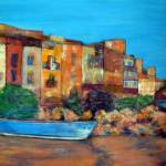 """Bouzigues, France"" by Jackie-Sherwood-Artist"