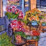 """Fleuriste de St Germaine, Paris"" by Jackie-Sherwood-Artist"