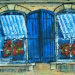 """""""Fenetres, Arles"""" by Jackie-Sherwood-Artist"""