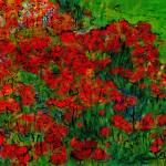 """French Poppies 2"" by Jackie-Sherwood-Artist"