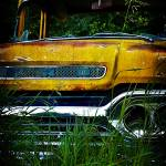 """Yellow Ford Pickup"" by AboveTheGarageStudios"