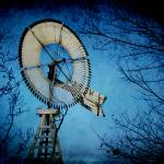 """Blue Mullen Windmill"" by AboveTheGarageStudios"