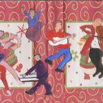 """""""CHRISTMAS MUSIC WITH DANCERS GUITAR MAN DRUM AND O"""" by ARTCREATIONSBYOLGA"""