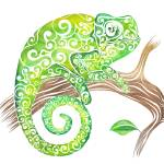 """Swirly Chameleon"" by carolina"