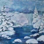 """""""Cascades in Winter"""" by Pamla"""