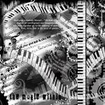 """Piano Musician Art Quotes Music Print"" by JuleezArt"
