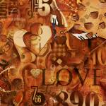 """""""Numbers And Inspirational Words Love Art Print"""" by JuleezArt"""