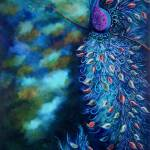 """Dramatic Peacock Teal Garden Art Print"" by JuleezArt"
