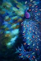 Dramatic Peacock Teal Garden Art Print