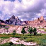 """The Badlands Twinish Peaks"" by dennisgorman"