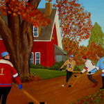 """Autumn Street Hockey"" by anthonydunphy"