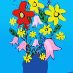 """Flowers in a Blue Vase"" by Scolas"