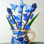 """Bluebells in a Small Jug"" by Scolas"