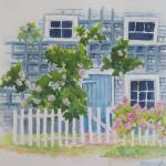 """Nantucket Cottage"" by lisablanchette"