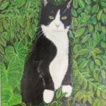 """Kitty in the woods"" by paintingsbygretzky"