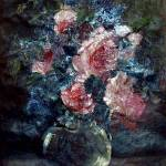 """Antique oil floral"" by Adrianne"