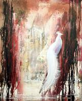 abstract thought 93 white peacock
