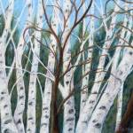 """Birch Trees"" by lisablanchette"