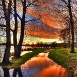 """The Flooded Sunset Path"" by irishphotographer"