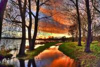 The Flooded Sunset Path