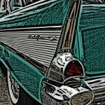 """IMG_3544_edited-1_bel air tail Woodcut"" by pi"