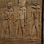 """Re Horakhty Hathor and Sobek at Edfu"" by circlingtheglobe"
