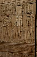 Re Horakhty Hathor and Sobek at Edfu