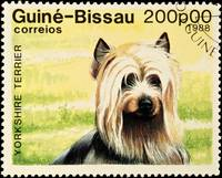 Yorkshire Terrier dog stamp.