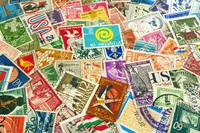World post stamps.