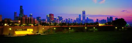 Grant Park Chicago Skyline.