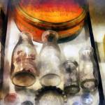 """Milk Bottles in Dairy Case"" by susansartgallery"