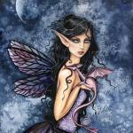 """Amethyst Dragon Fairy Watercolor Art by Molly Harr"" by robmolily"