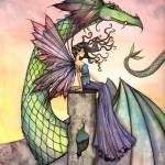 """A Distant Place Fairy and Dragon by Molly Harrison"" by robmolily"