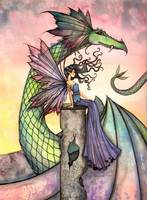 A Distant Place Fairy and Dragon by Molly Harrison