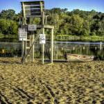 """""""Lifeguard Chair at With Lake"""" by Hunerbergphoto"""