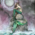 """Emerald Mermaid Fantasy Art Print by Molly Harriso"" by robmolily"