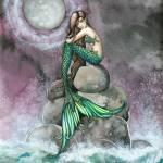 """Emerald Mermaid Fantasy Art Print by Molly Harriso"" by robmolily"