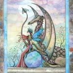 """Celestial Companions Fairy and Dragon Fine Art Pri"" by robmolily"