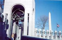 World War II Memorial with Washington Monument