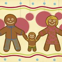 Gingerbread Family Art Prints & Posters by Claudia Pflicke